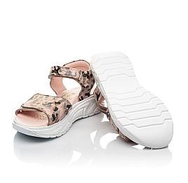 Детские босоножки Woopy Fashion золотые для девочек натуральный нубук размер 33-38 (5163) Фото 2