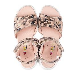 Детские босоножки Woopy Fashion золотые для девочек натуральный нубук размер 33-38 (5163) Фото 5
