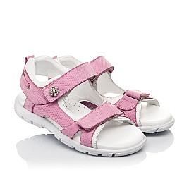 Детские босоножки Woopy Fashion розовые для девочек натуральный нубук размер 24-37 (5164) Фото 1