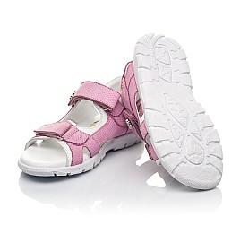 Детские босоножки Woopy Fashion розовые для девочек натуральный нубук размер 24-37 (5164) Фото 2