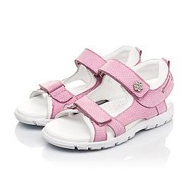 Детские босоножки Woopy Fashion розовые для девочек натуральный нубук размер 24-37 (5164) Фото 3