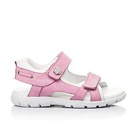Детские босоножки Woopy Fashion розовые для девочек натуральный нубук размер 24-37 (5164) Фото 4