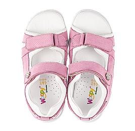 Детские босоножки Woopy Fashion розовые для девочек натуральный нубук размер 24-37 (5164) Фото 5