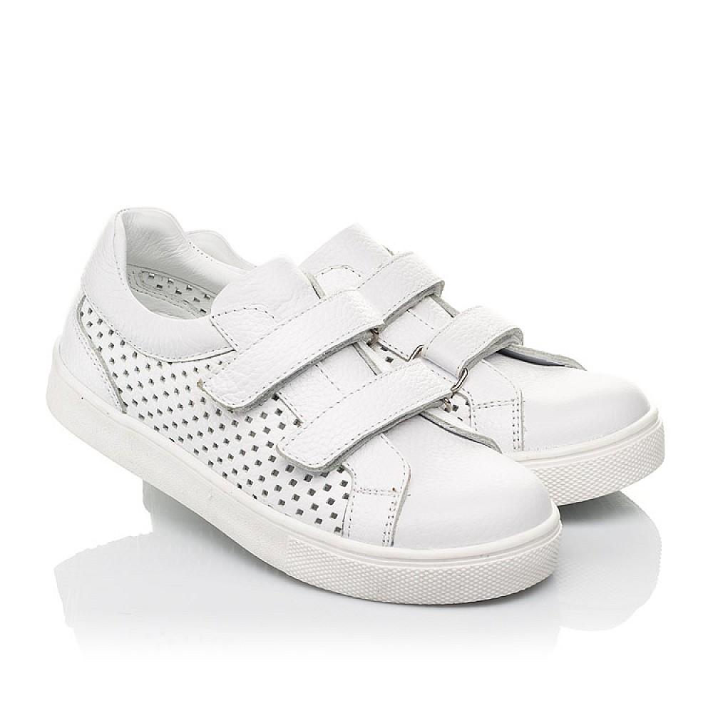 Детские кеды Woopy Fashion белые для девочек натуральная кожа размер 24-35 (5168) Фото 1