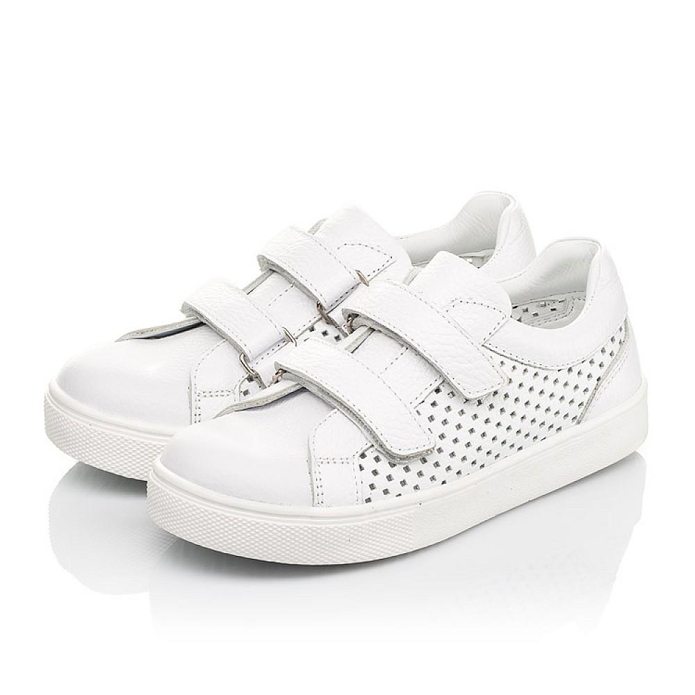 Детские кеды Woopy Fashion белые для девочек натуральная кожа размер 24-35 (5168) Фото 3
