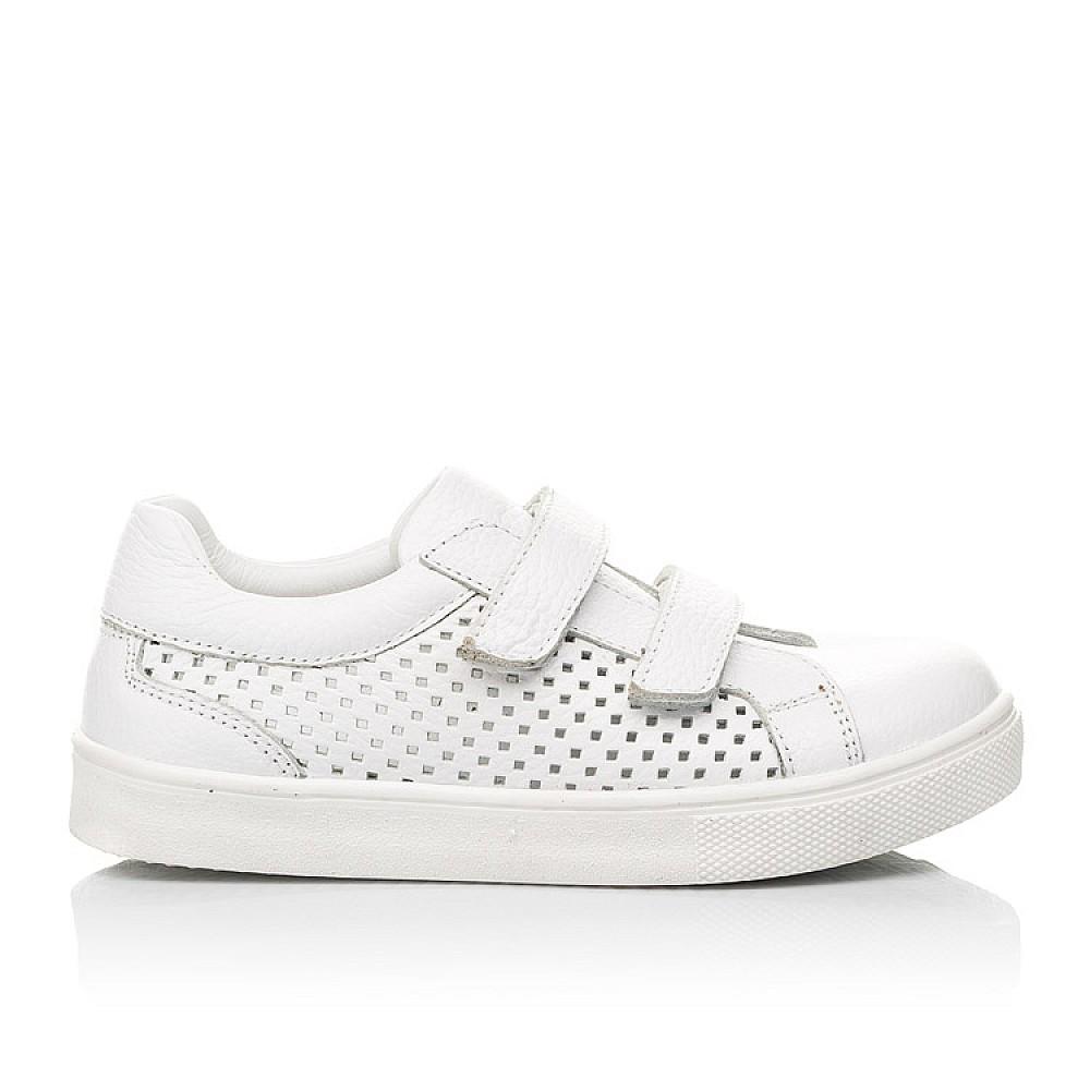Детские кеды Woopy Fashion белые для девочек натуральная кожа размер 24-35 (5168) Фото 4