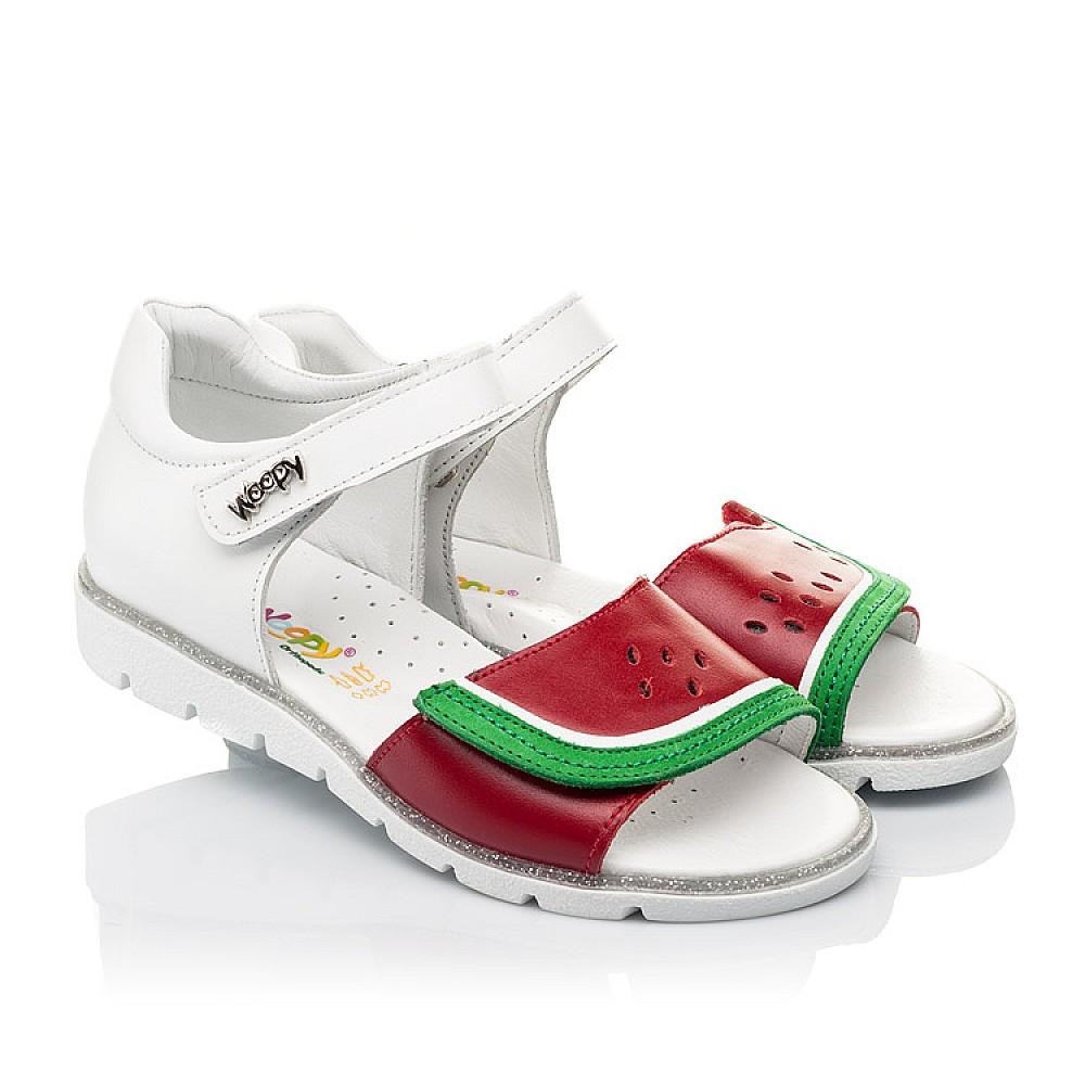Детские босоножки Woopy Fashion белые,красные для девочек натуральная кожа размер 30-36 (5169) Фото 1