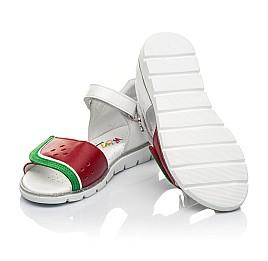 Детские босоножки Woopy Fashion белые,красные для девочек натуральная кожа размер 30-31 (5169) Фото 2
