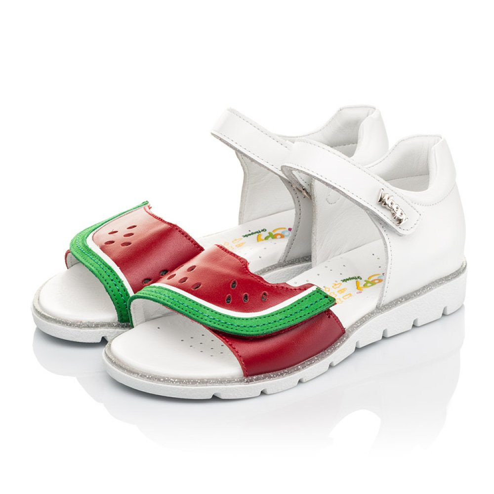 Детские босоножки Woopy Fashion белые,красные для девочек натуральная кожа размер 30-36 (5169) Фото 3