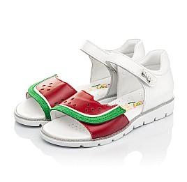 Детские босоножки Woopy Fashion белые,красные для девочек натуральная кожа размер 30-31 (5169) Фото 3