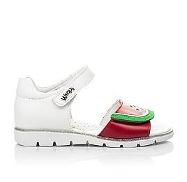 Детские босоножки Woopy Fashion белые,красные для девочек натуральная кожа размер 30-31 (5169) Фото 4