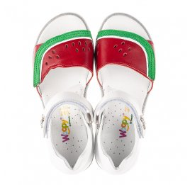 Детские босоножки Woopy Fashion белые,красные для девочек натуральная кожа размер 30-31 (5169) Фото 5