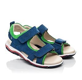 Детские босоножки Woopy Fashion синие для мальчиков натуральный нубук размер 27-38 (5173) Фото 1