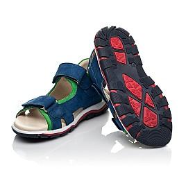 Детские босоножки Woopy Fashion синие для мальчиков натуральный нубук размер 27-38 (5173) Фото 2