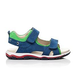 Детские босоножки Woopy Fashion синие для мальчиков натуральный нубук размер 27-38 (5173) Фото 4