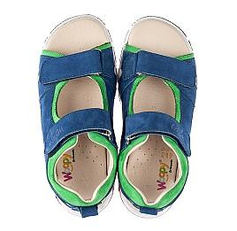Детские босоножки Woopy Fashion синие для мальчиков натуральный нубук размер 27-38 (5173) Фото 5