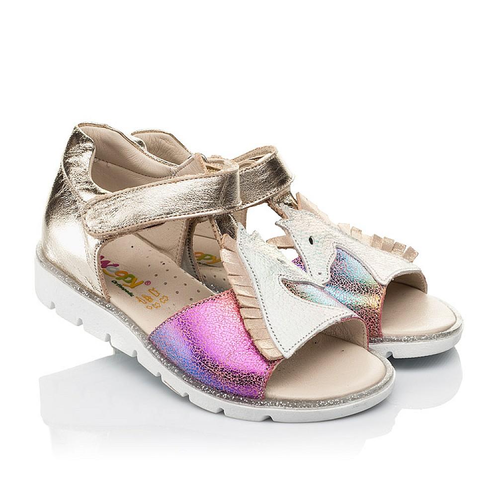 Детские босоножки Woopy Fashion разноцветные для девочек натуральная кожа, нубук размер 21-30 (5174) Фото 1
