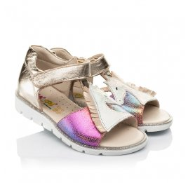 Детские босоножки Woopy Fashion разноцветные для девочек натуральная кожа, нубук размер 21-25 (5174) Фото 1