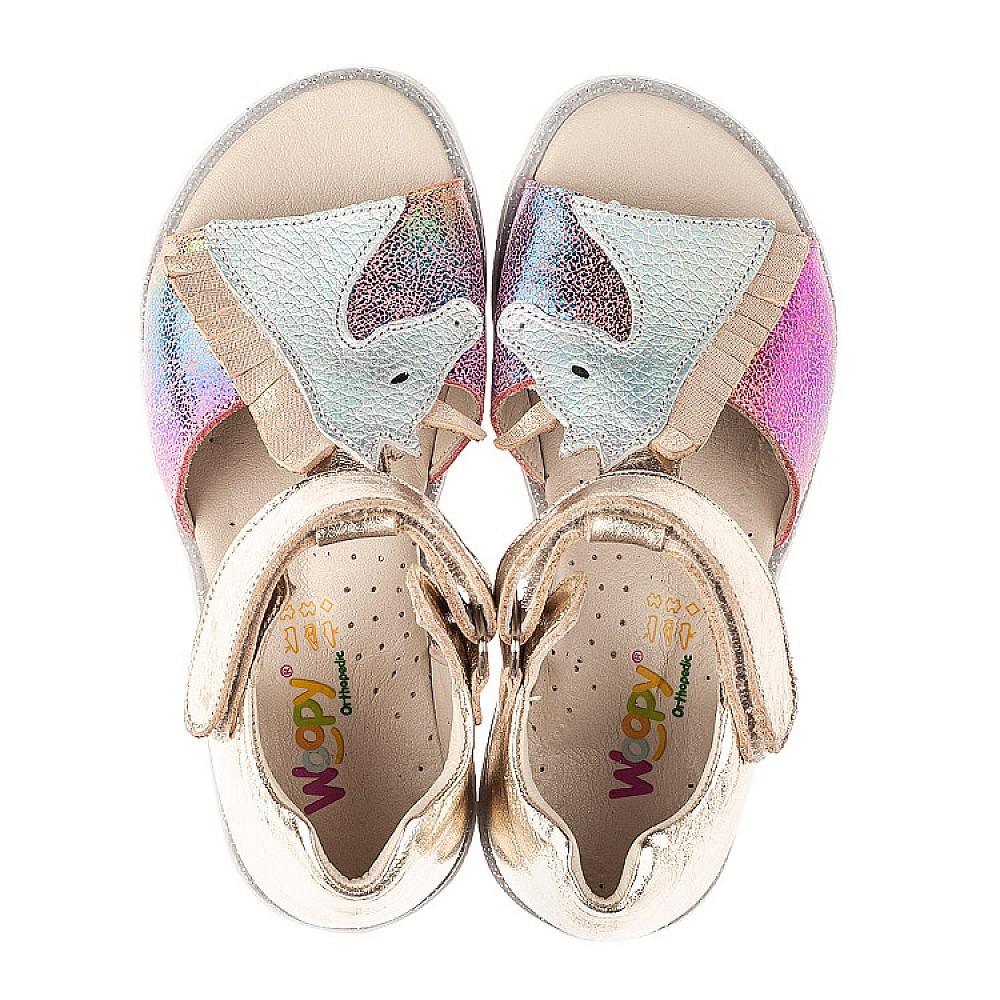 Детские босоножки Woopy Fashion разноцветные для девочек натуральная кожа, нубук размер 21-30 (5174) Фото 5