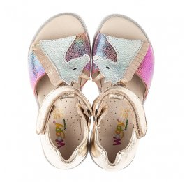 Детские босоножки Woopy Fashion разноцветные для девочек натуральная кожа, нубук размер 21-25 (5174) Фото 5
