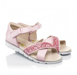 Детские босоножки Woopy Fashion розовые для девочек натуральная кожа размер 34-35 (5176) Фото 1