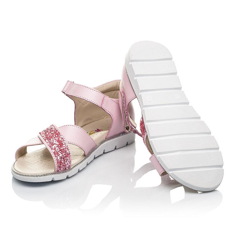 Детские босоножки Woopy Fashion розовые для девочек натуральная кожа размер 24-35 (5176) Фото 2
