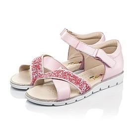 Детские босоножки Woopy Fashion розовые для девочек натуральная кожа размер 34-35 (5176) Фото 3