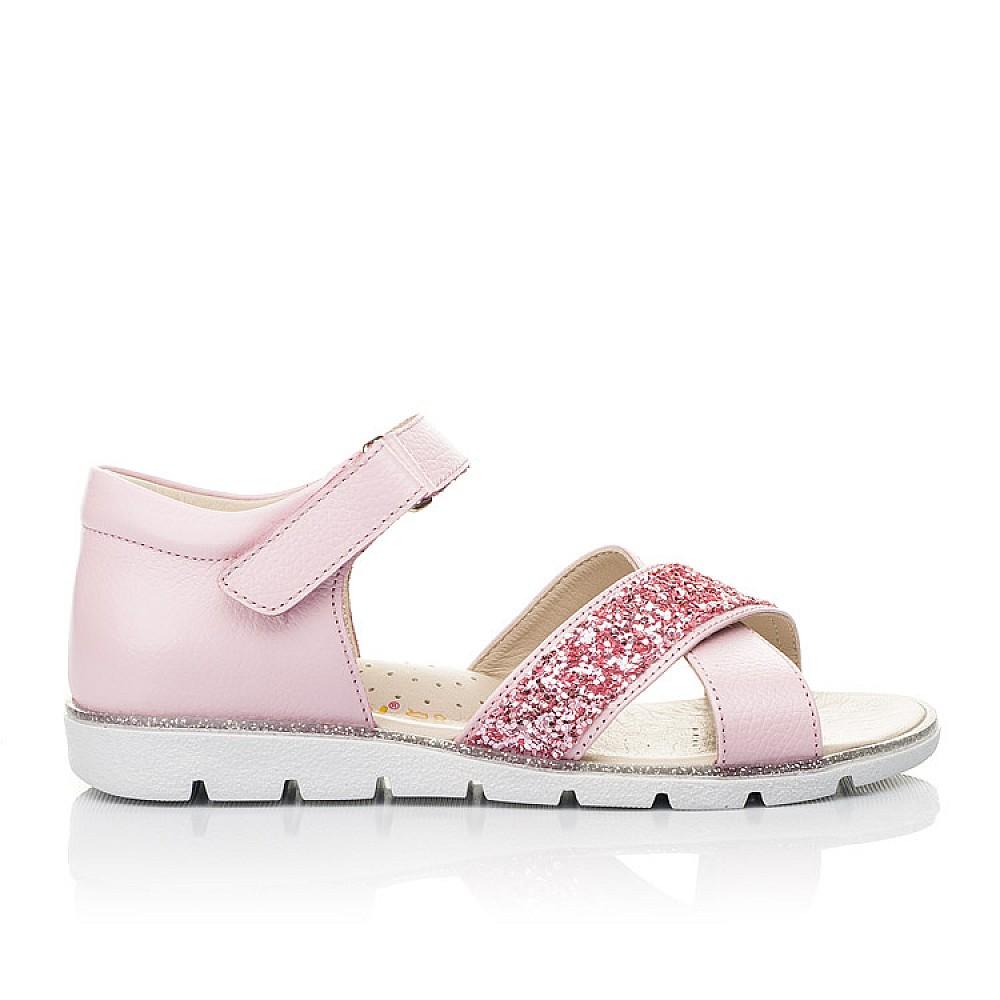 Детские босоножки Woopy Fashion розовые для девочек натуральная кожа размер 24-35 (5176) Фото 4
