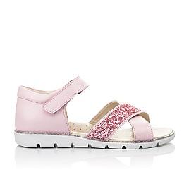 Детские босоножки Woopy Fashion розовые для девочек натуральная кожа размер 34-35 (5176) Фото 4