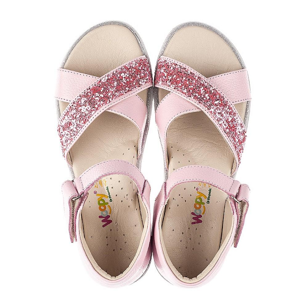 Детские босоножки Woopy Fashion розовые для девочек натуральная кожа размер 24-35 (5176) Фото 5