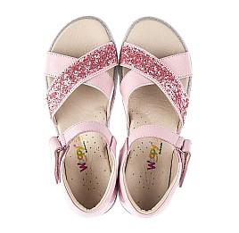 Детские босоножки Woopy Fashion розовые для девочек натуральная кожа размер 34-35 (5176) Фото 5