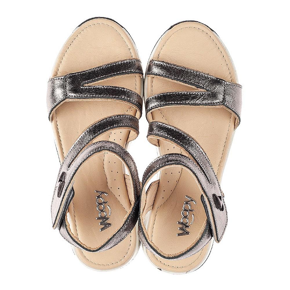 Детские босоножки Woopy Fashion серебряные для девочек натуральная кожа размер 31-36 (5179) Фото 5