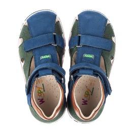 Детские босоножки Woopy Orthopedic разноцветные для мальчиков натуральный нубук размер 22-29 (5180) Фото 5