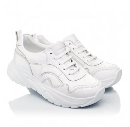 Детские кроссовки Woopy Orthopedic белые для девочек натуральная кожа размер 34-39 (5181) Фото 1