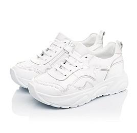 Детские кроссовки Woopy Orthopedic белые для девочек натуральная кожа размер 34-39 (5181) Фото 3