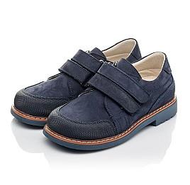 Детские туфли Woopy Orthopedic синие для мальчиков натуральный нубук размер 30-31 (5184) Фото 3