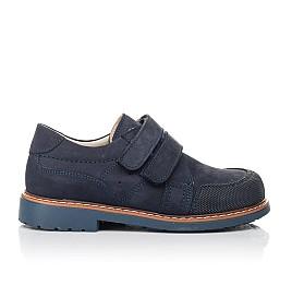 Детские туфли Woopy Orthopedic синие для мальчиков натуральный нубук размер 30-31 (5184) Фото 4