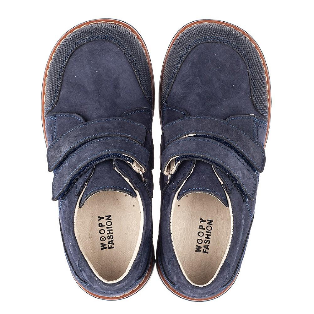 Детские туфли Woopy Orthopedic синие для мальчиков натуральный нубук размер 30-34 (5184) Фото 5