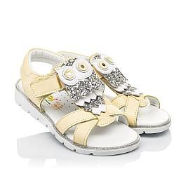 Детские босоножки Woopy Fashion желтые для девочек натуральная кожа размер 26-30 (5185) Фото 1