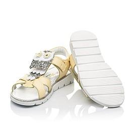 Детские босоножки Woopy Fashion желтые для девочек натуральная кожа размер 26-30 (5185) Фото 2
