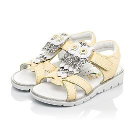 Детские босоножки Woopy Fashion желтые для девочек натуральная кожа размер 26-30 (5185) Фото 3