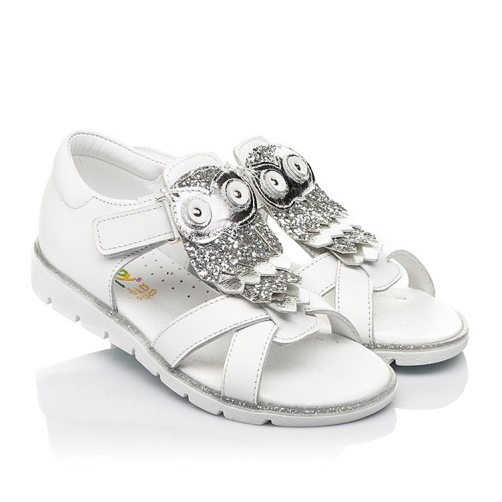 Детские босоножки Woopy Fashion белые для девочек натуральная кожа размер 21-33 (5186) Фото 1