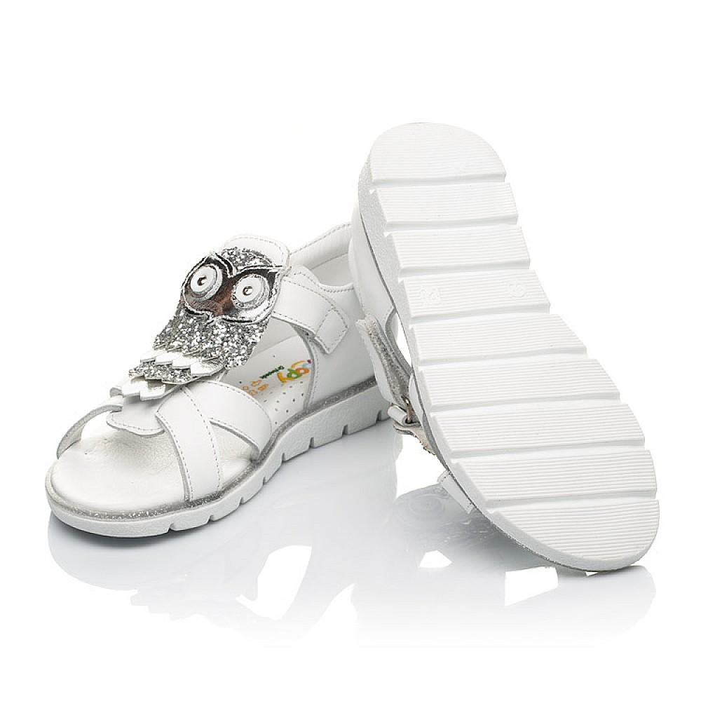 Детские босоножки Woopy Fashion белые для девочек натуральная кожа размер 21-33 (5186) Фото 2