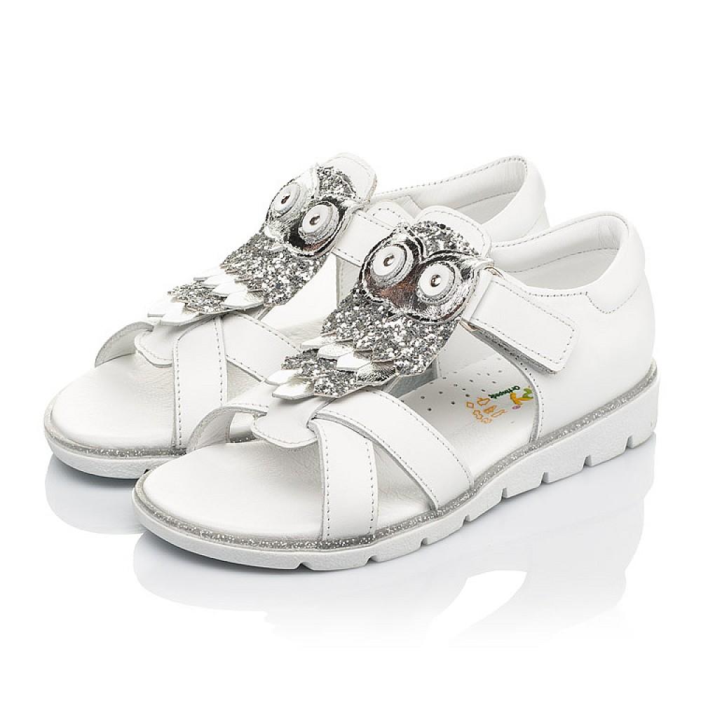 Детские босоножки Woopy Fashion белые для девочек натуральная кожа размер 21-33 (5186) Фото 3