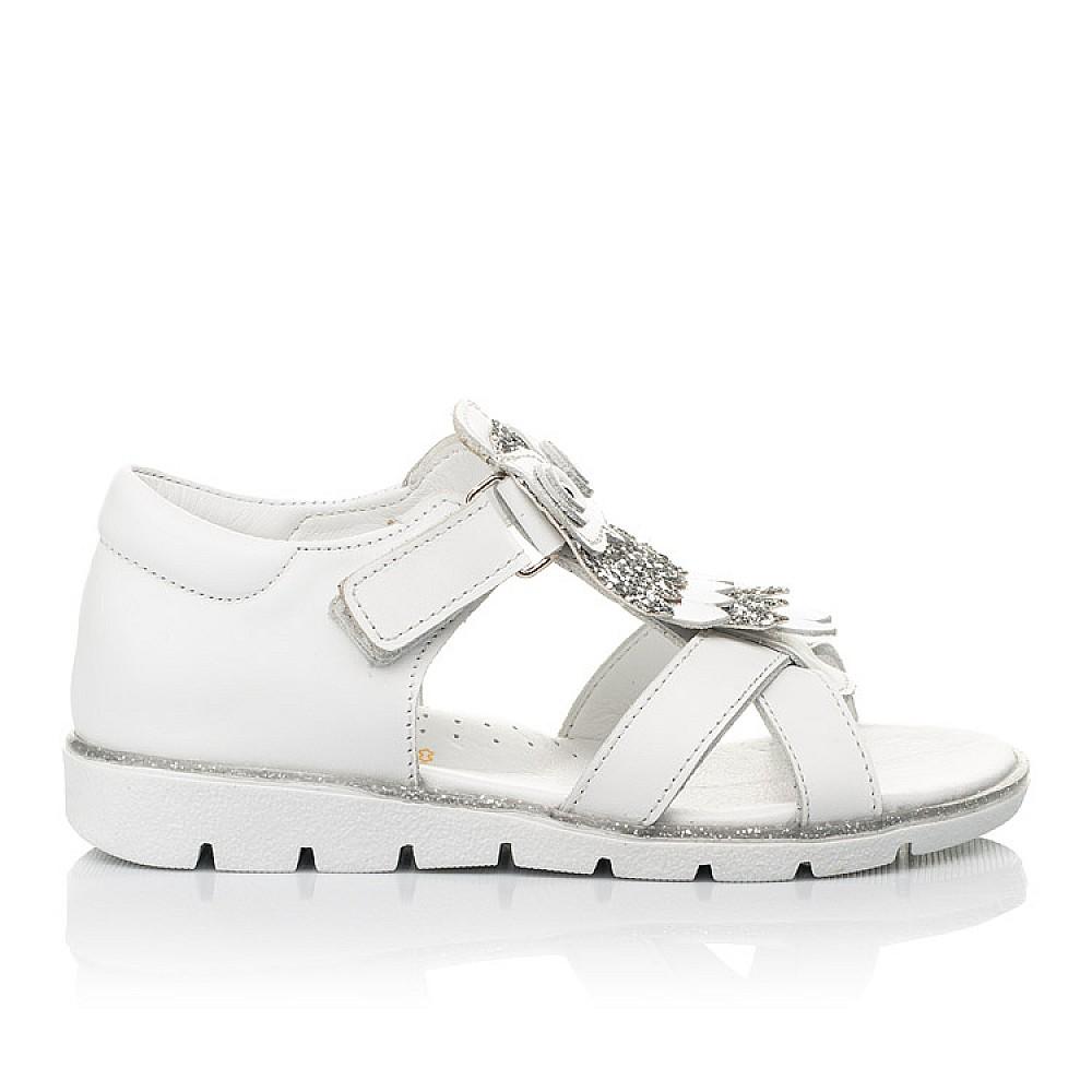 Детские босоножки Woopy Fashion белые для девочек натуральная кожа размер 21-33 (5186) Фото 4