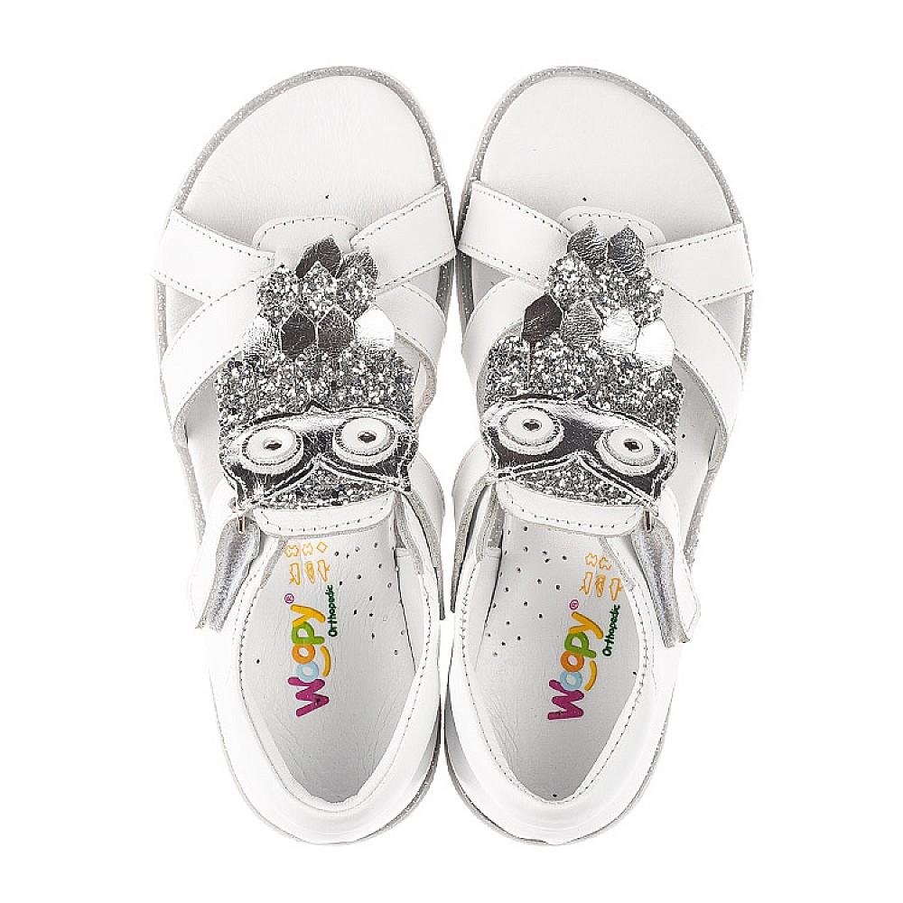 Детские босоножки Woopy Fashion белые для девочек натуральная кожа размер 21-33 (5186) Фото 5
