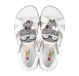 Детские босоножки Woopy Fashion белые для девочек натуральная кожа размер 21-30 (5186) Фото 5