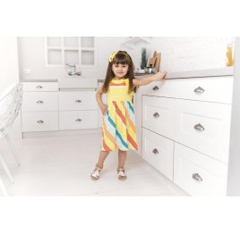 Детские босоножки Woopy Fashion золотые для девочек натуральная кожа размер 21-22 (5187) Фото 6