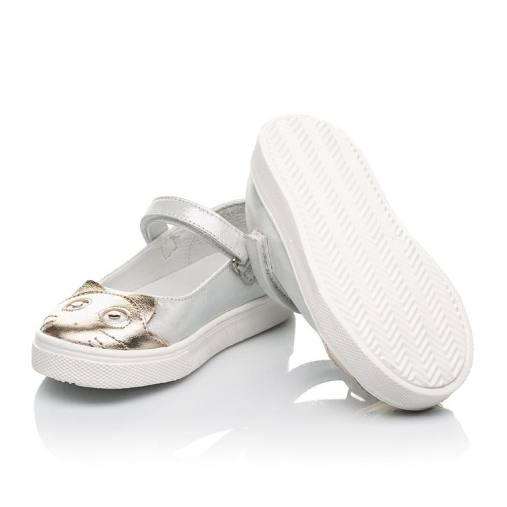 Детские туфли Woopy Fashion серебряные для девочек натуральный нубук размер 23-27 (5188) Фото 2
