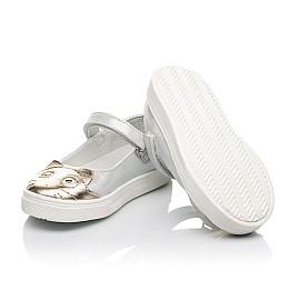 Детские туфли Woopy Fashion серебряные для девочек натуральный нубук размер 23-24 (5188) Фото 2